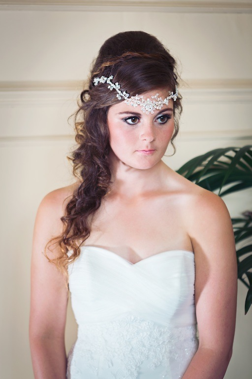 Anya bridal headpiece, bridal browband, bridal hairvine, bridal tiara, crystal hairvine, bridal hairvine, crystal hair vine, bridal hair vine, pearl hair vine, pearl hairvine, pearl and crystal browband, bridal forehead band, bridal crystal browband