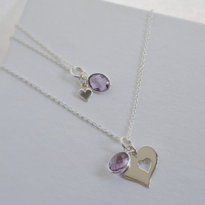 Necklace set, mother and daughter necklace set, sterling silver necklace set, sharing necklace