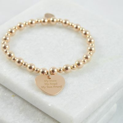 rose gold bracelet, bracelet, silver bracelet, mother of the bride gift, mother of the groom gift, bracelet for mum, personalised bracelet