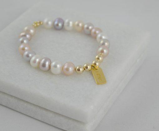 Natural muliticolour pearl sisters bracelet