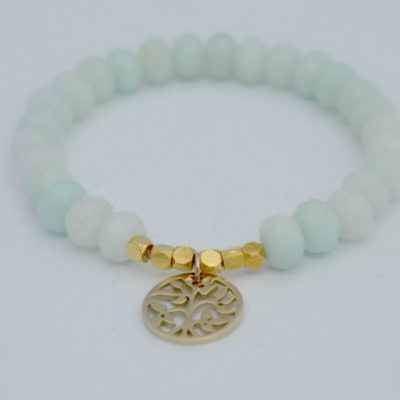 Tree of Life charm bracelet, bracelet, gold bracelet, bridesmaid gift, gift for bridesmaids, amazonite bracelet, charm bracelet, jewellery, bridesmaid jewellery