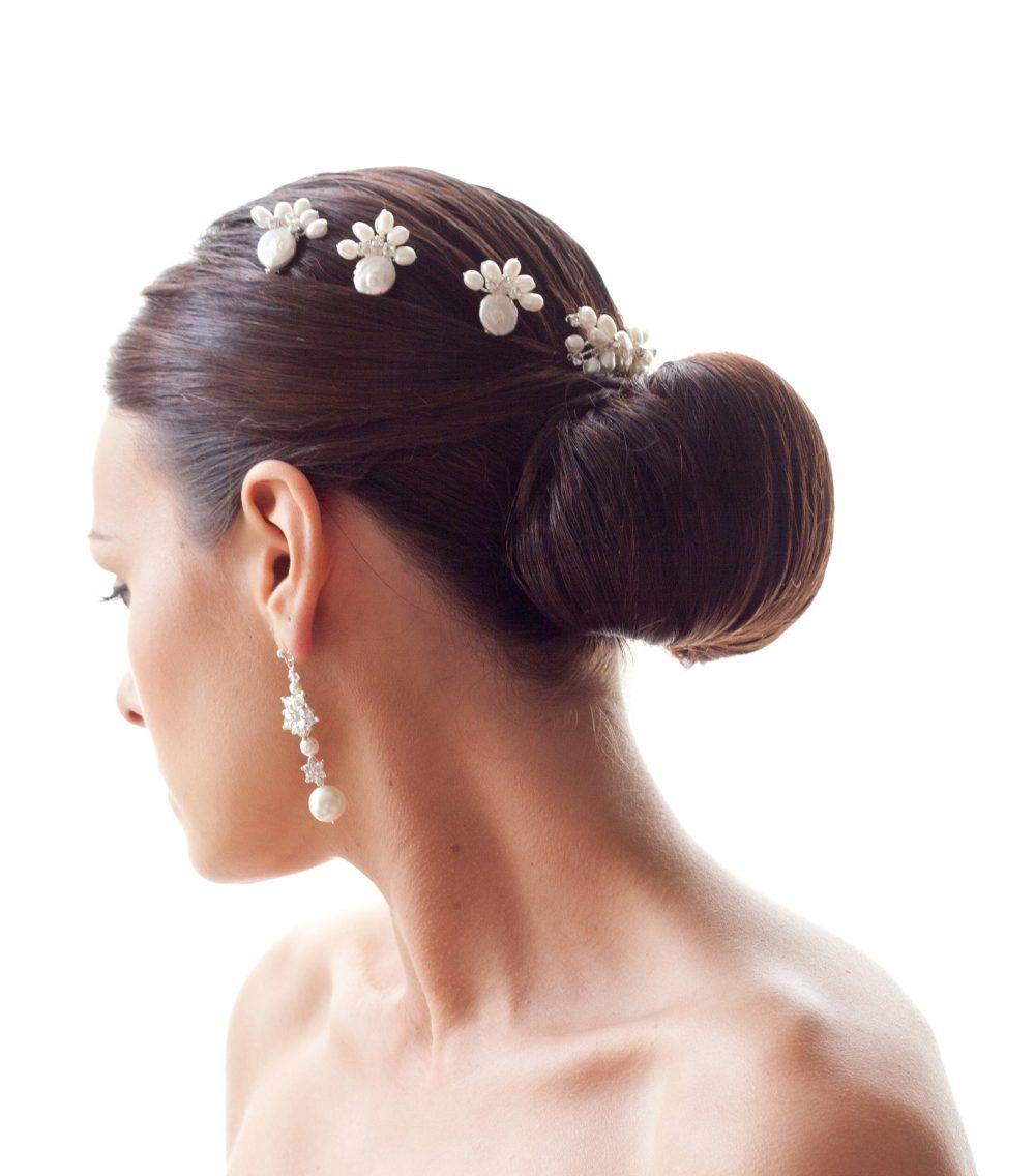 bridal hair pins, pearl hair pins, Eva hair pins