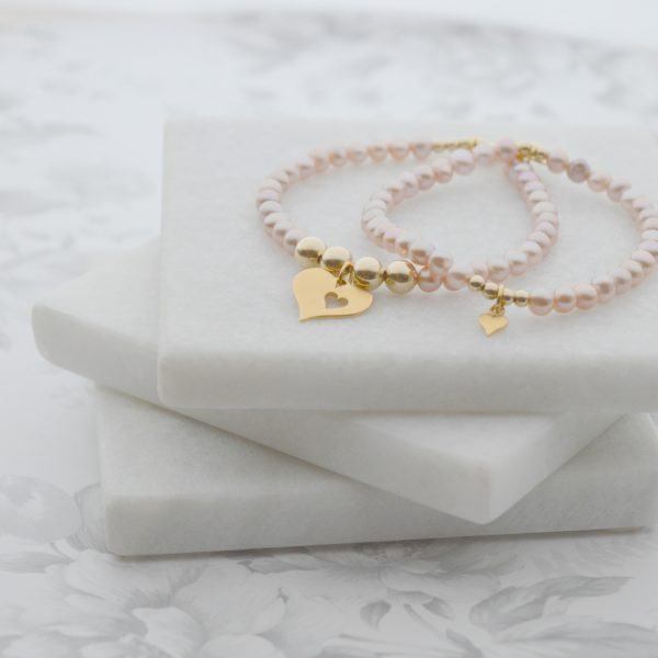 Mother and Daughter pearl bracelet set, pearl bracelets, mothers day gift, mother of the bride gift, bracelet., pearl bracelet, Mother's Day