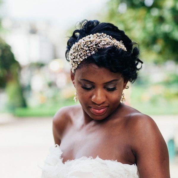 Blossom Bridal Headpiece, bespoke, bridal headpiece, bridal jewellery, wedding headpiece, wedding jewellery, bride, gold headpiece, pearl headpiece, gold bridal headpiece, gold bridal jewellery