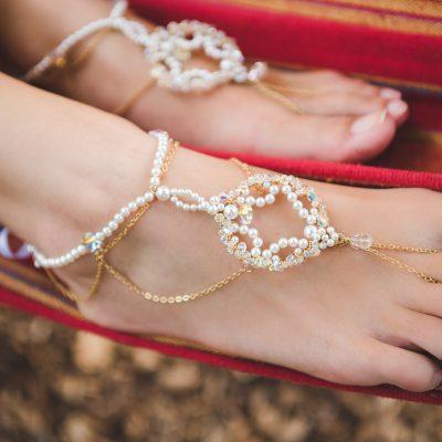 Priya bridal barefoot sandals