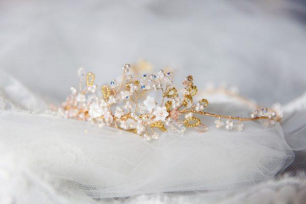 bridal headpiece, bridal hair vine, blush bridal accessories, blush bridal hair vine, pearl bridal hair vine, gold bridal hair vine, custom made bridal accessories