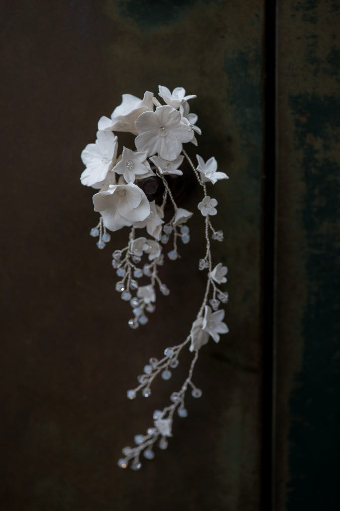 Floral hair vine, bridal hair vine, bridal headpiece,Felicity bridal hair vine