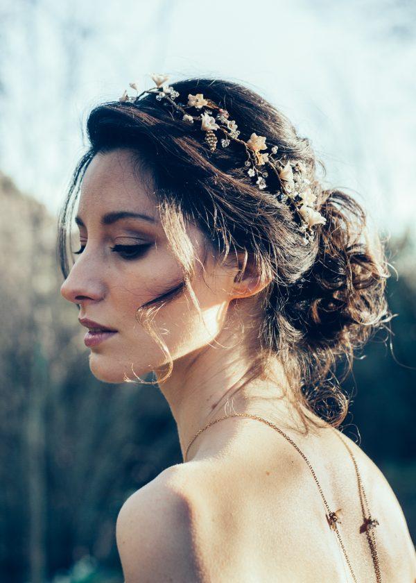 bridal hair vine, floral hair vine, gold hair vine, peach hair vine, blush hair vine, bridal hair vine, bridal headpiece