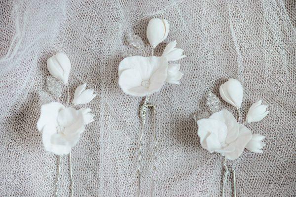 bridal hair pins, bridal hairpins, wedding hairpins, wedding hair pins, handmade bridal accessories, bridal accessories, hair pins, hairpins, bud & bloom hair pins, bridal headpiece, wedding headpiece,