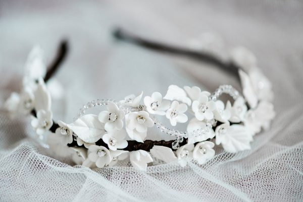 Bridal headpiece, The Dewdrop bridal headpiece, bridal hair accessories, wedding hair accessories, wedding hair band, bridal hairband, statement headpiece, bridal jewellery