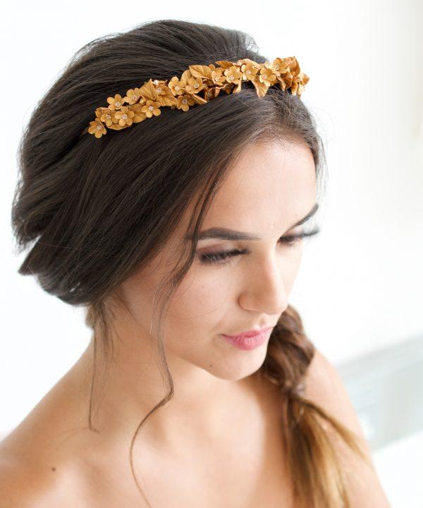Orla bridal headpiece, bridal headpiece, bridal headband, bridal hair accessories, wedding hairband, wedding headpiece, wedding hair accessories, bridal hair vine, gold headpiece, gold hair vine