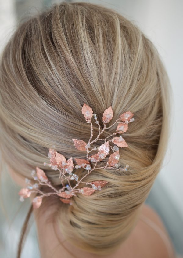 bridal hair pins, bridal hairpins, wedding hairpins, wedding hair pins, bridal headpiece, wedding headpiece, Avani hair pins, Avani hairpins, rose gold hairpins