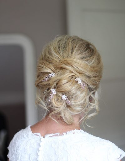 Sue married at Houchins and wanted something simple to work with her soft bridal updo