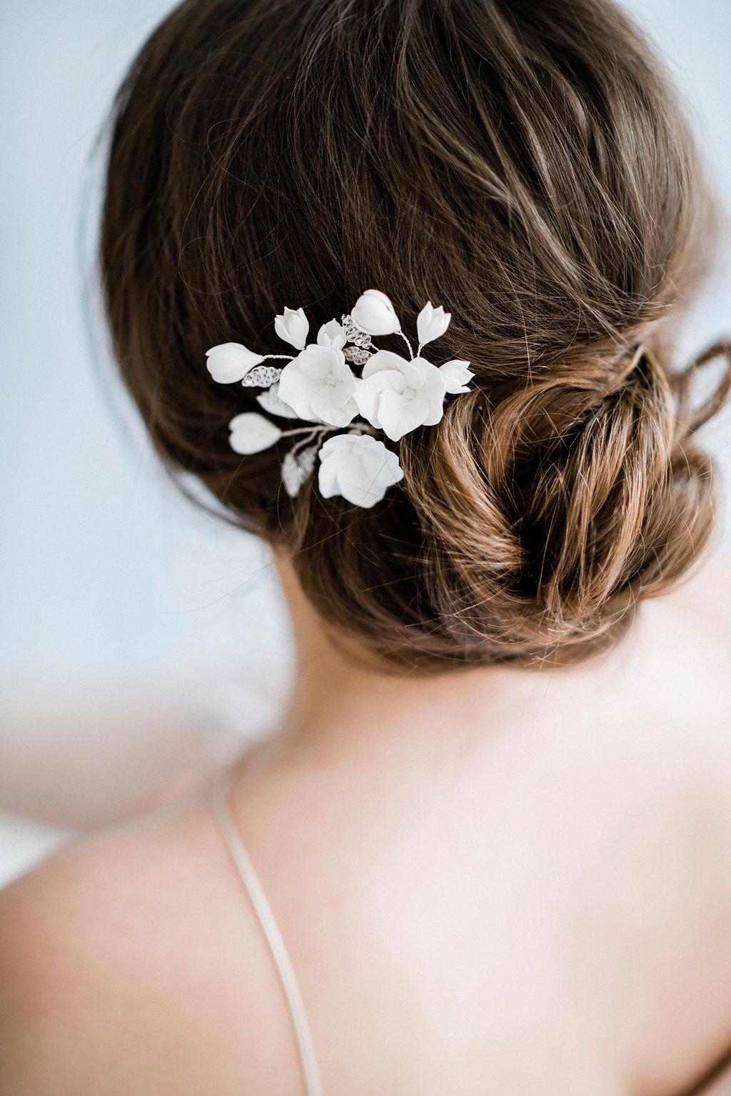 Bud Bloom Bridal Hairpins